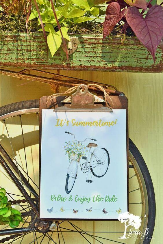 bicycle garden art