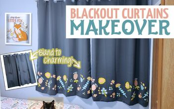 Charming Blackout Curtain Makeover