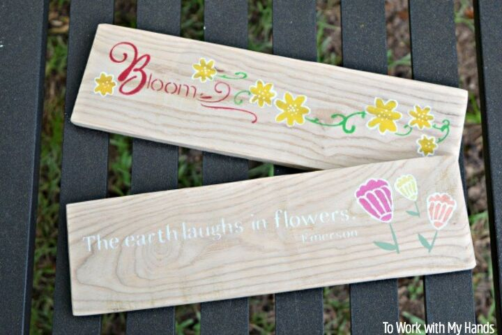 pallet wood solar light garden sign