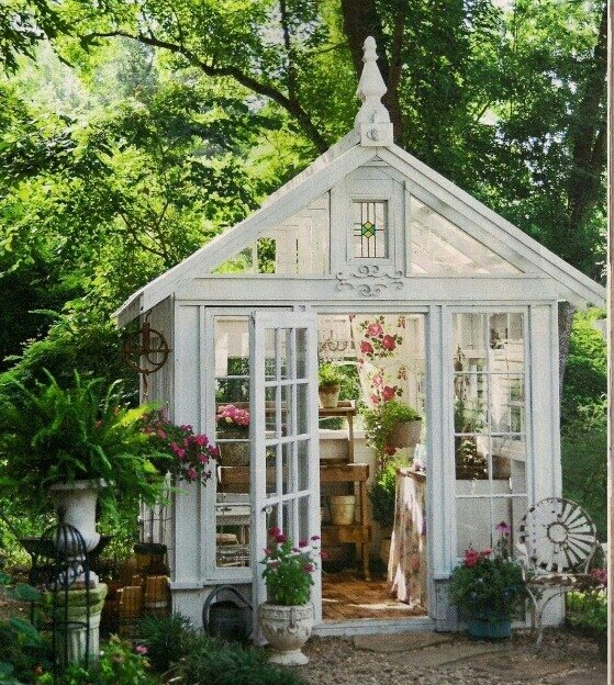 q how do i build a greenhouse like this out of old steel framed windoew