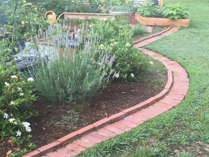 diy brick garden edging