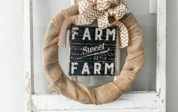 Super Simple DIY Burlap Wreath- Busy Mom Approved