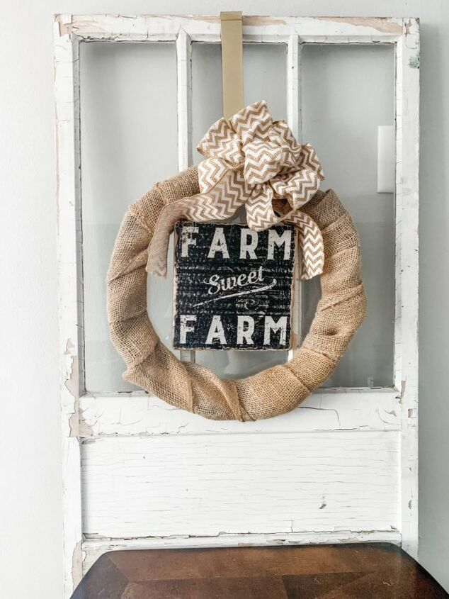 super simple diy burlap wreath busy mom approved
