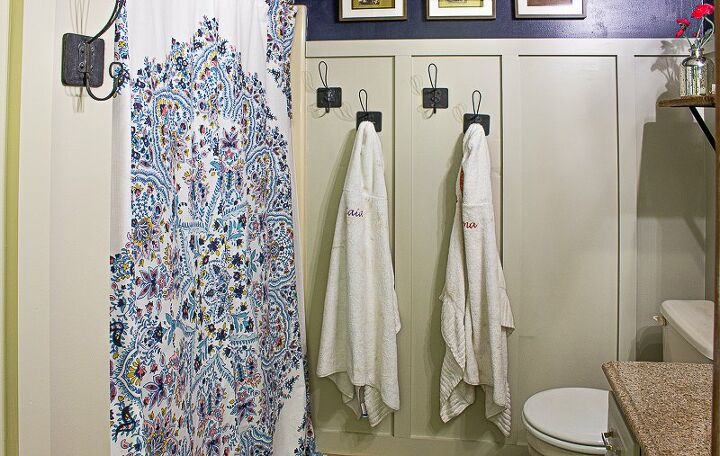 easy diy board and batten bathroom makeover
