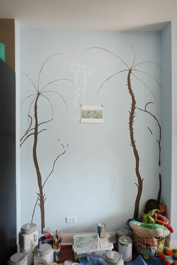How To Paint A Diy Hand Painted Wall Mural Hometalk