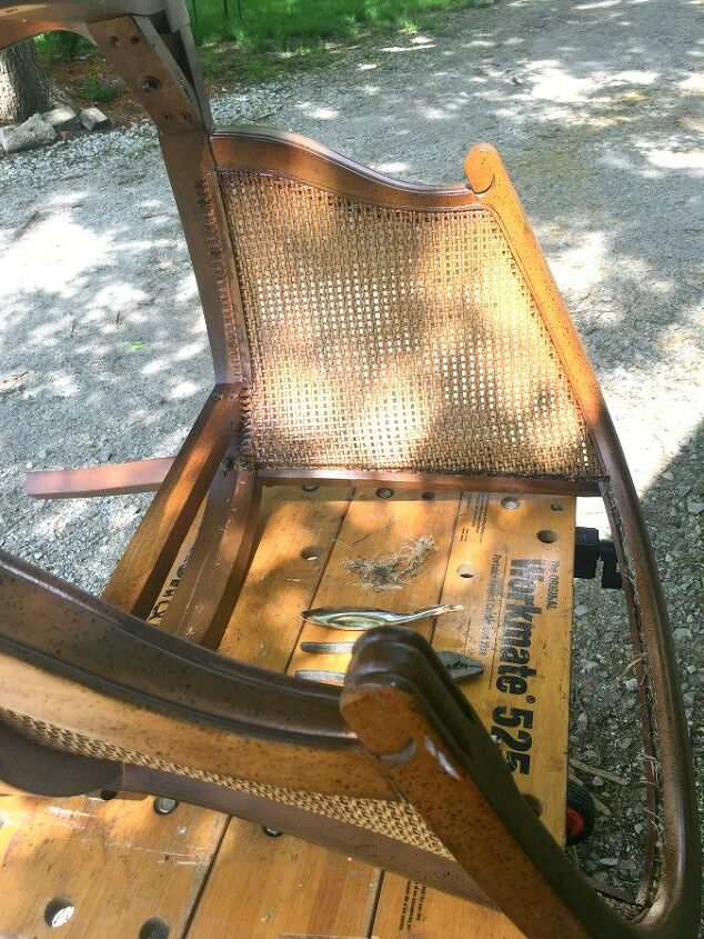 chair makeover reupholstered paint
