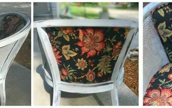 Chair Makeover (Reupholstered & Paint)