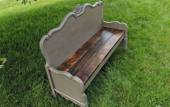Repurposed Headboard Bench | Farmhouse Style