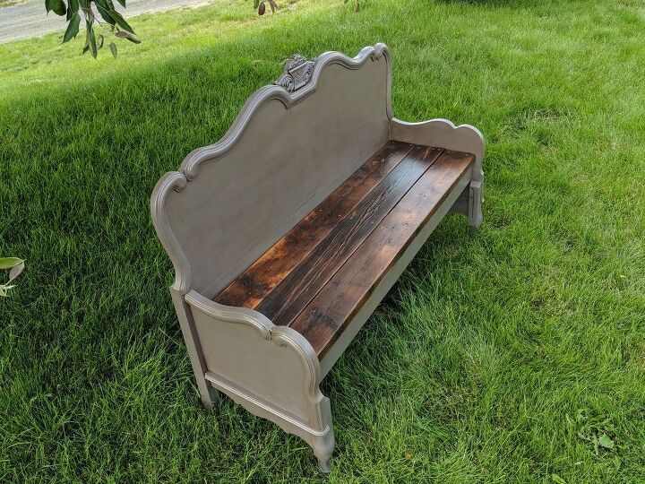 need a bench make one out of a headboard