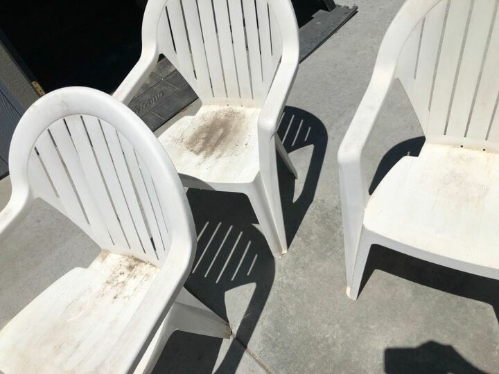Here are the plastic chairs