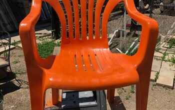Plastic Chairs Repainted Into Beautiful Patio Chairs