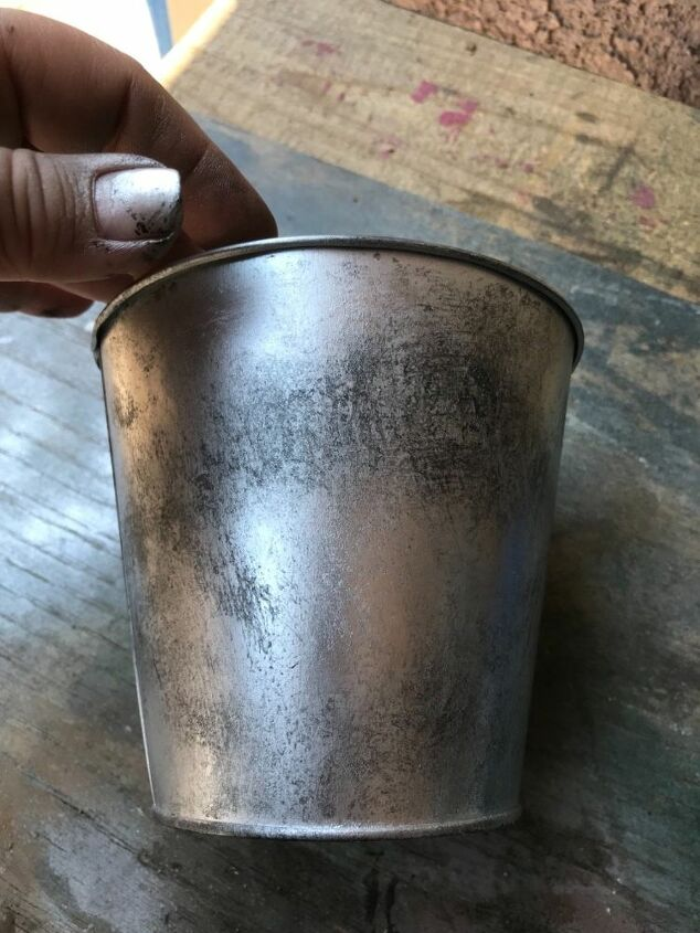 how to rust a dollar store pot