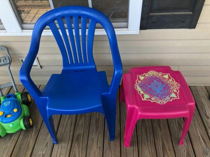 refresh outside plastic furniture