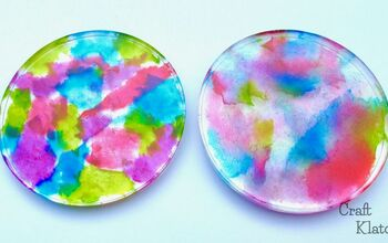 Toilet Paper Tie Dye Resin Coasters