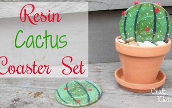 DIY Resin Cactus Coasters