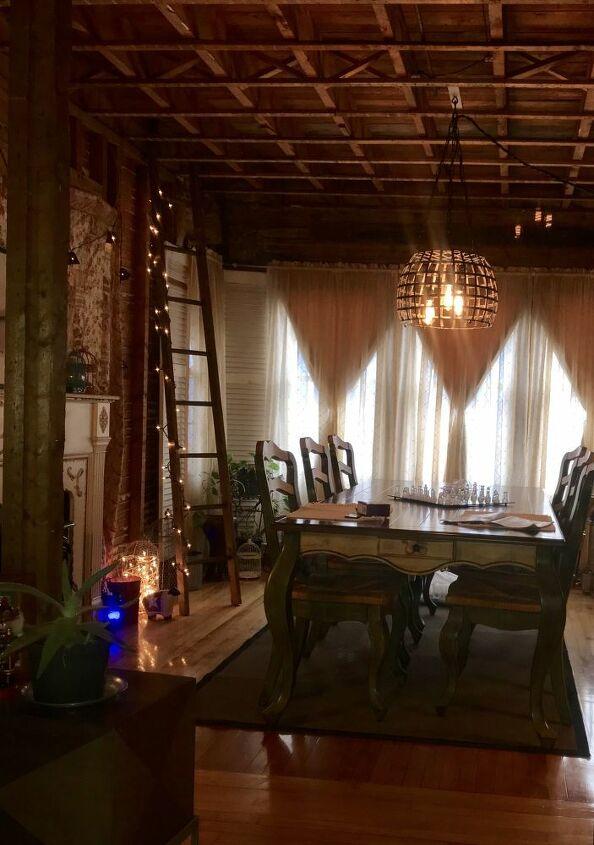 dining room swag light
