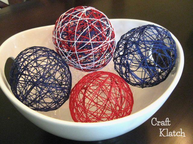 patriotic decorative string balls