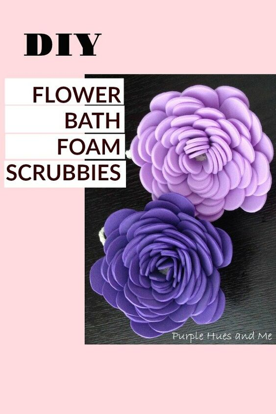 flower bath foam scrubbies