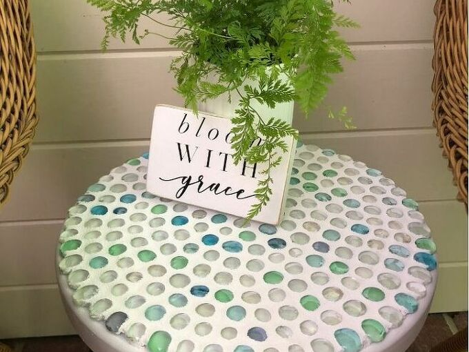 easy diy dollar store glass bead table