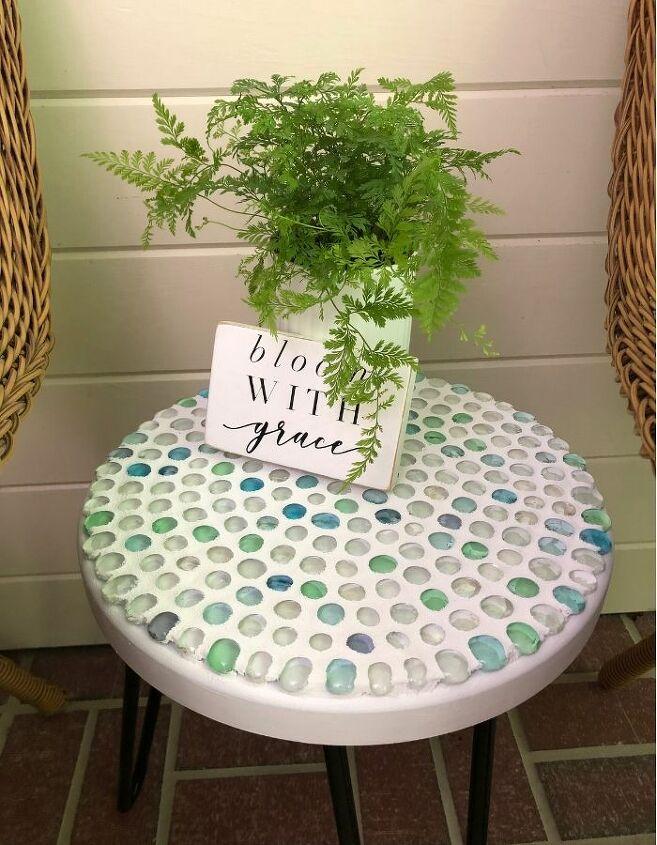 easy diy dollar store glass bead table