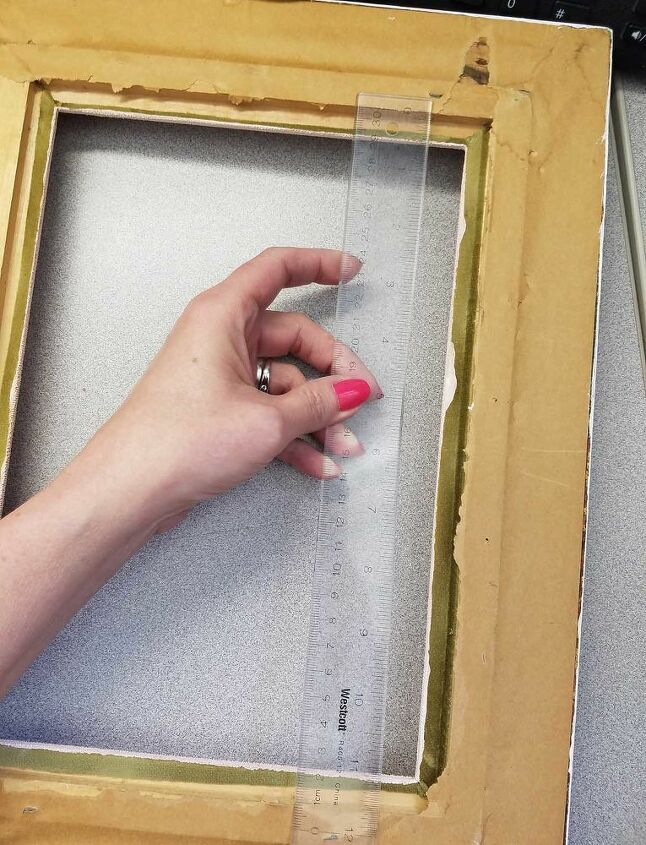 Measure the width of the frame for slats