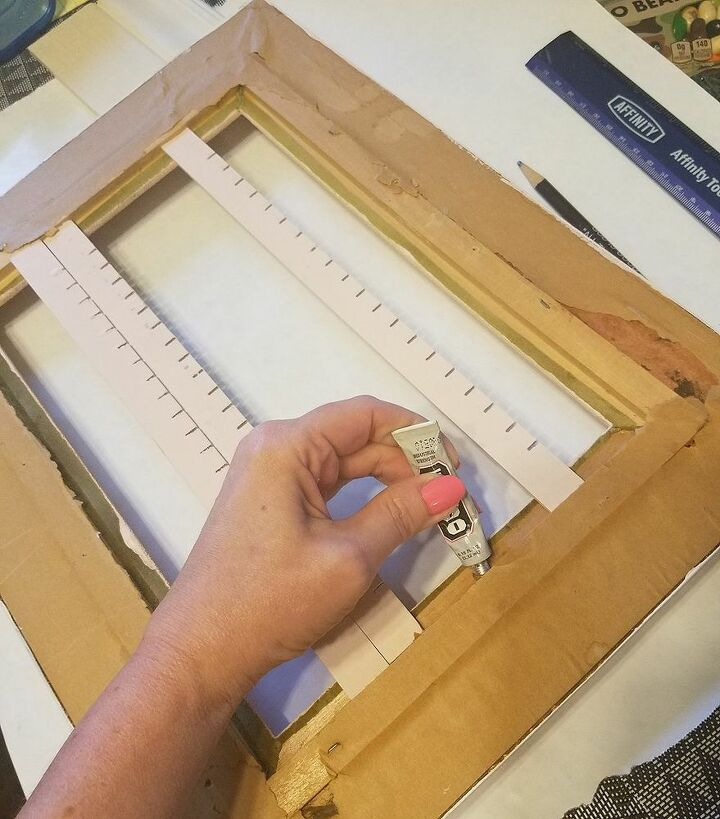 Glue slats into place and let dry.