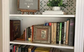 Adding a Raised Stencil Design to Your Bookcase