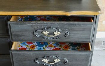 Dresser Redo With Fun, Colorful Drawer Liner