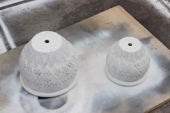 ombre painted pots