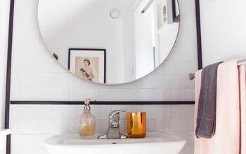 DIY Renter Friendly Tiled Wall