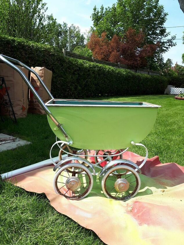baby buggy planter