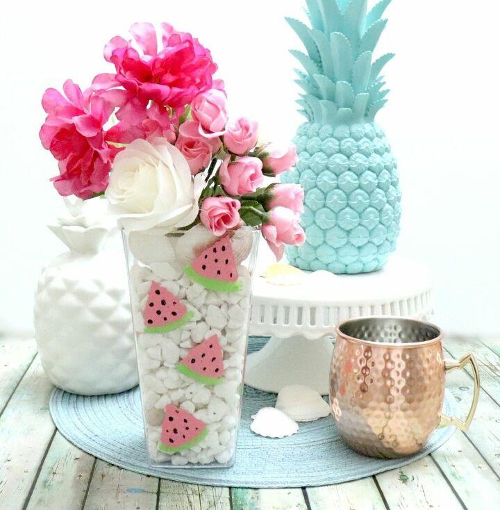 dollar store watermelon vase