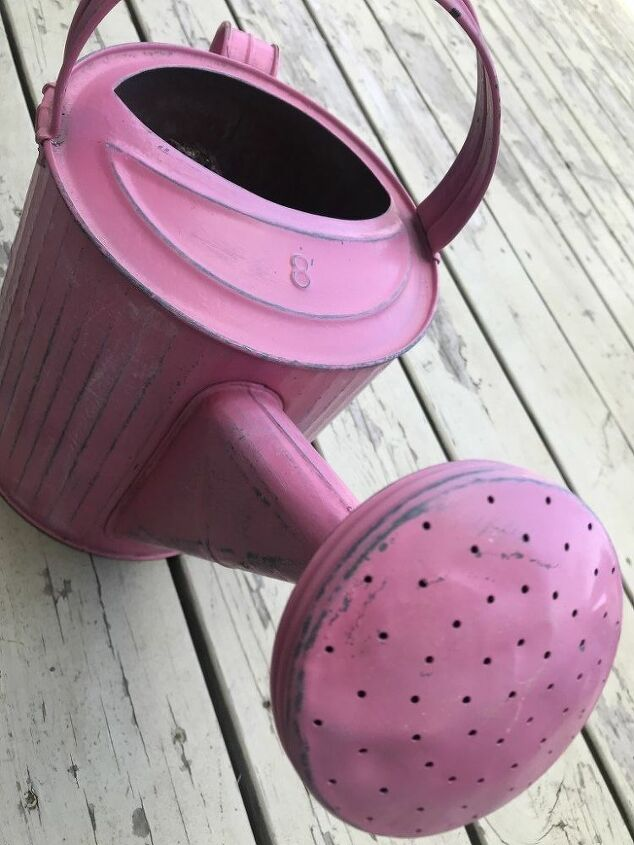 vintage watering can makeover