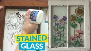 q how to make an easy stained glass window