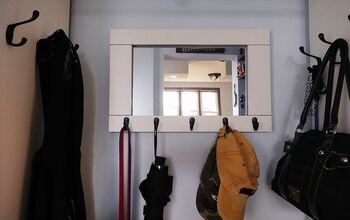 DIY Entryway Mirror With Hooks