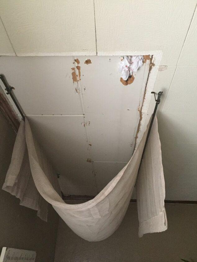 q how do i even up my ceiling where a standup closet floor to ceiling u