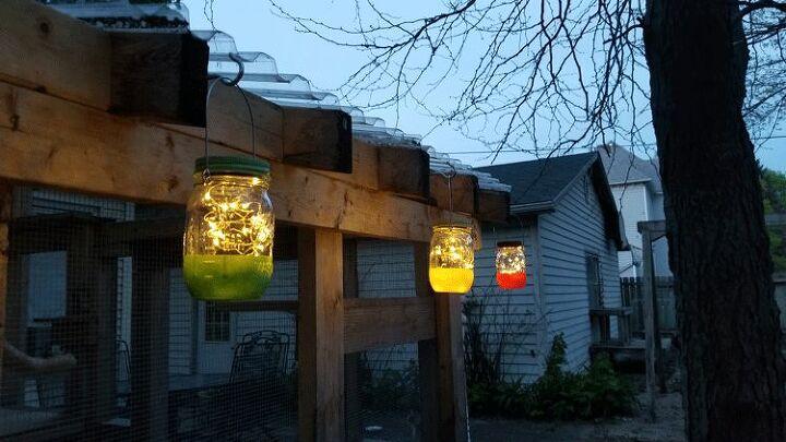 easy mason jar hanging solar lights