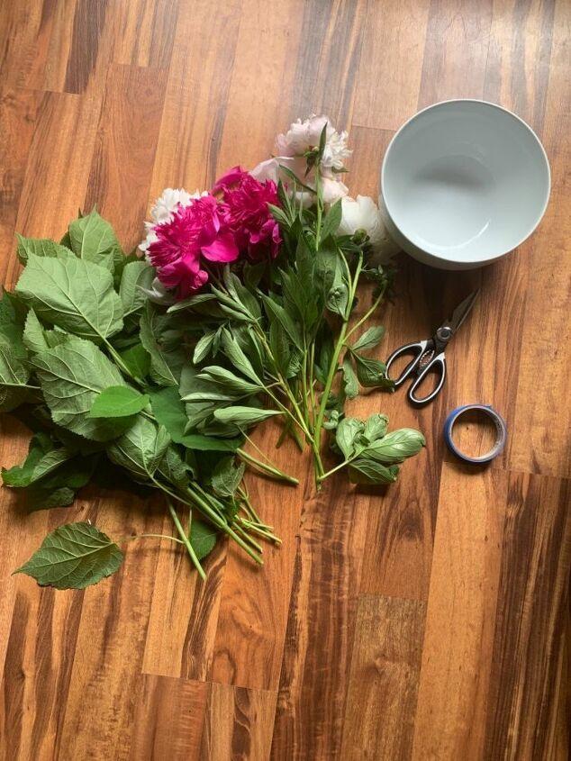 easy diy floral bowl