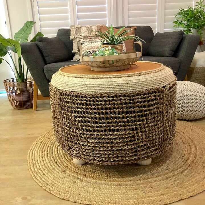 seagrass tyre table
