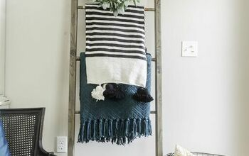 DIY Blanket Ladder With Croquet Mallets + Scrap Wood