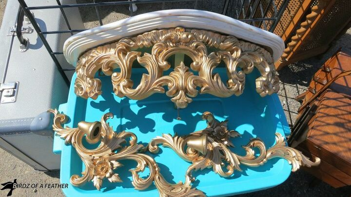 garden shelf mirror