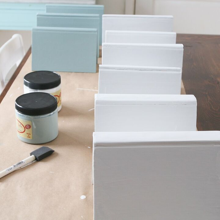 easy and cheap diy decorative painted book stacks