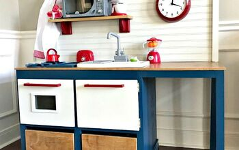 Build a Wooden Play Kitchen With Sink