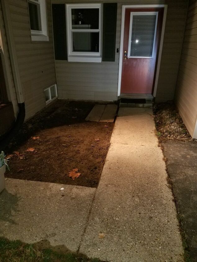 q how can we spruce up this entryway with a deck