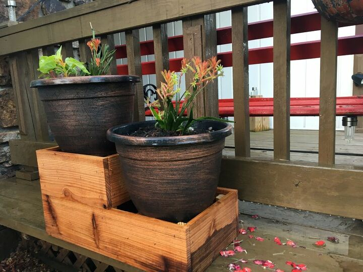 terraced planter for the porch