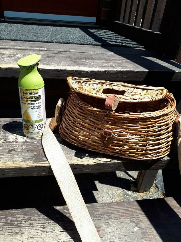 fishing basket creel turned hanging flower basket