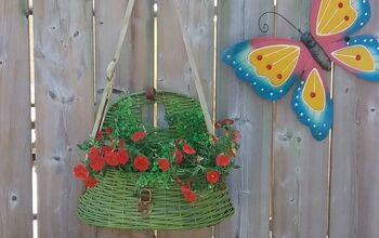 Fishing Basket Creel Turned Hanging Flower Basket
