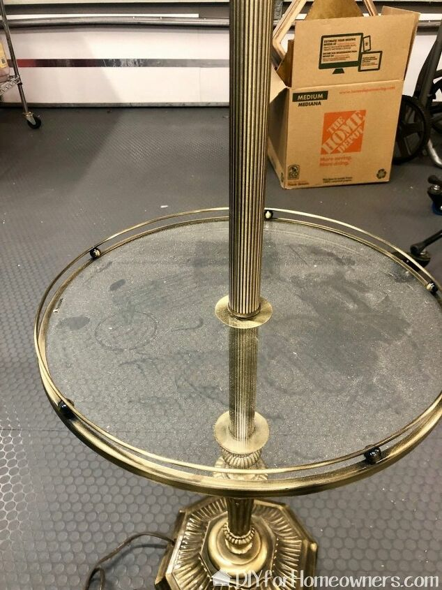 upcycle floor lamp to coat rack