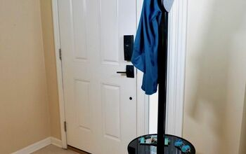 Upcycle Floor Lamp to Coat Rack