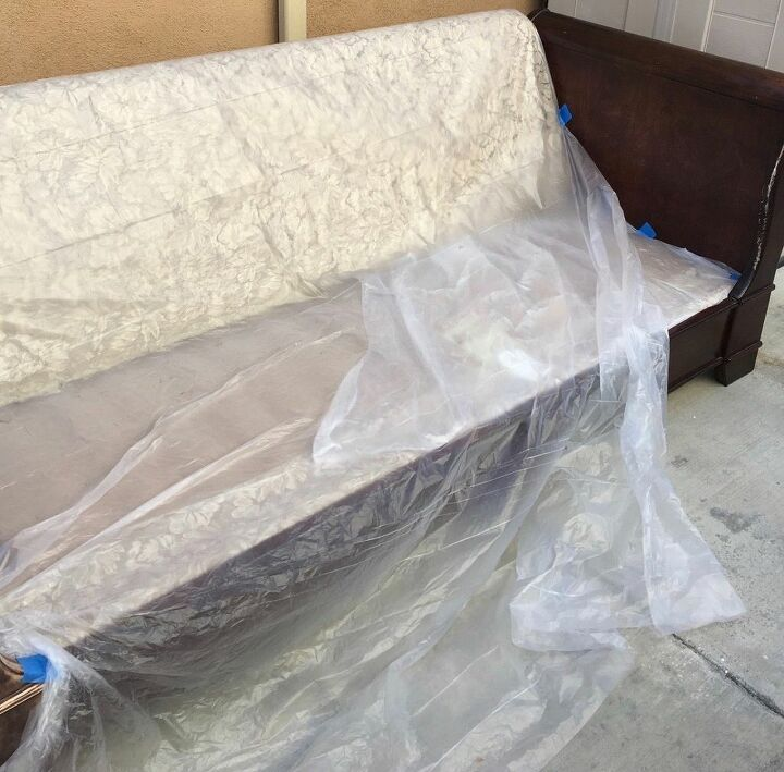 My before photo of my daybed.
